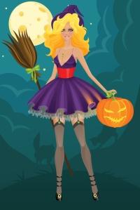 Jolie petite sorcière wiccane